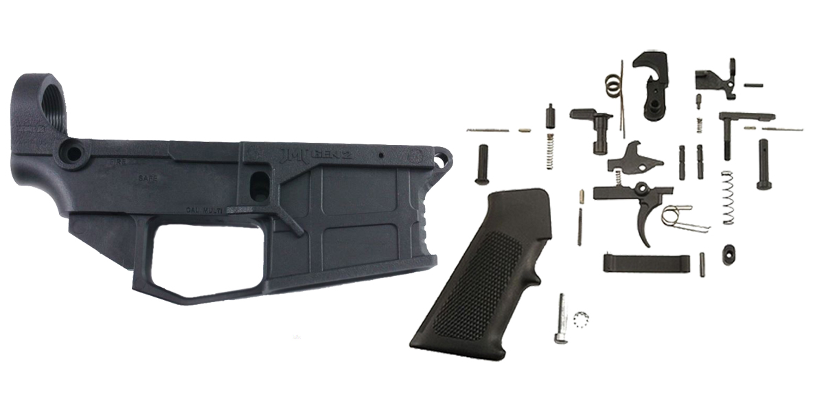 Delta Deals JMT AR-15 Equalizer 80% Polymer Lower with Jig + KAK Industries Complete Mil-Spec Lower Parts Kit (LPK)
