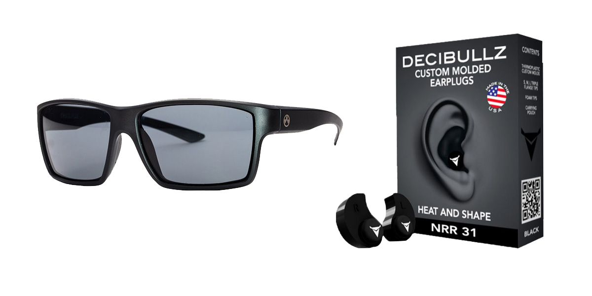Delta Deals Shooter Safety Packs Featuring Decibullz Custom Molded Earplugs - Black + Magpul Industries Explorer Glasses - Matte Black