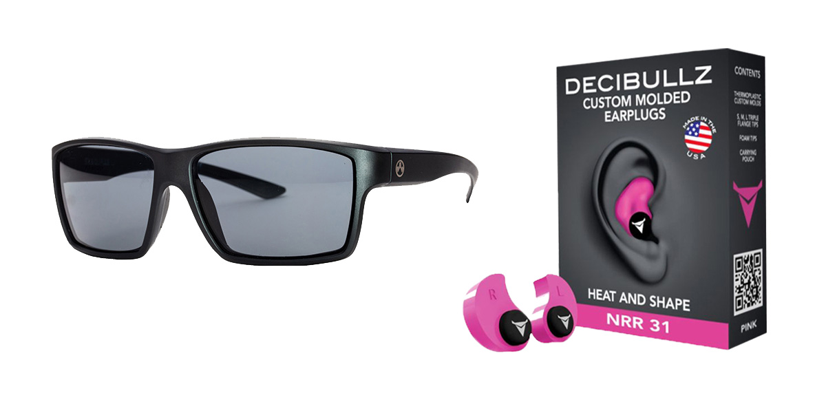 Delta Deals Shooter Safety Packs Featuring Decibullz Custom Molded Earplugs - Pink + Magpul Industries Explorer Glasses - Matte Black