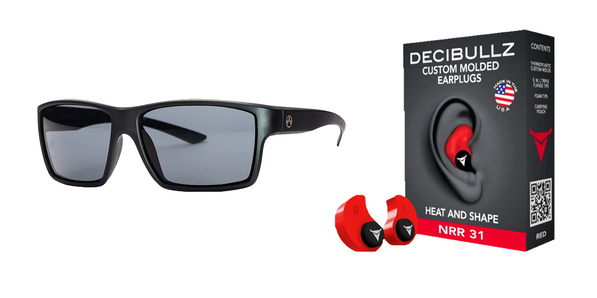 Delta Deals Shooter Safety Packs Featuring Decibullz Custom Molded Earplugs - Red + Magpul Industries Explorer Glasses - Matte Black