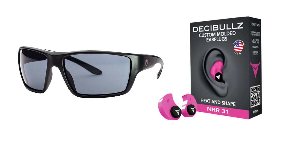 Delta Deals Shooter Safety Packs Featuring Decibullz Custom Molded Earplugs - Pink + Magpul Terrain Glasses - Matte Black