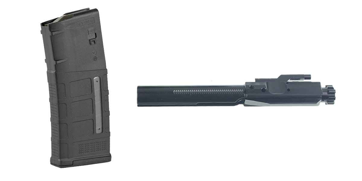 Delta Deals Recoil Technologies Ion Nitride LR-.308/AR-.308 Bolt Carrier Group (.308 Win and 6.5 Creedmoor) + Magpul Industries, Magazine, M3, 308 Win/7.62x51 NATO, 25Rd, Fits DPMS/SR25/LaRue OBR- Black Finish