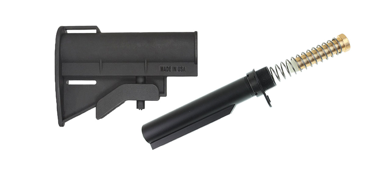 Delta Deals JE Machine CQB Stock + Omega Mfg. Mil-Spec Buffer Tube Kit
