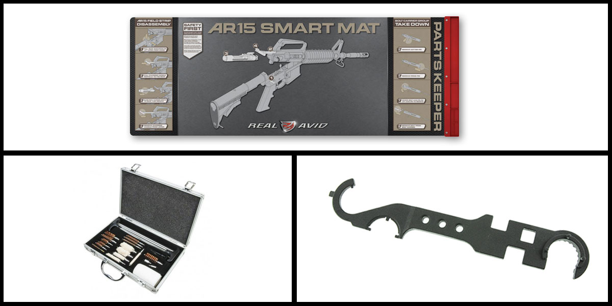 Delta Deals Real Avid Smart Mat + Universal Cleaning Kit + AIM Sports AR-15 Enhanced Rail Tool