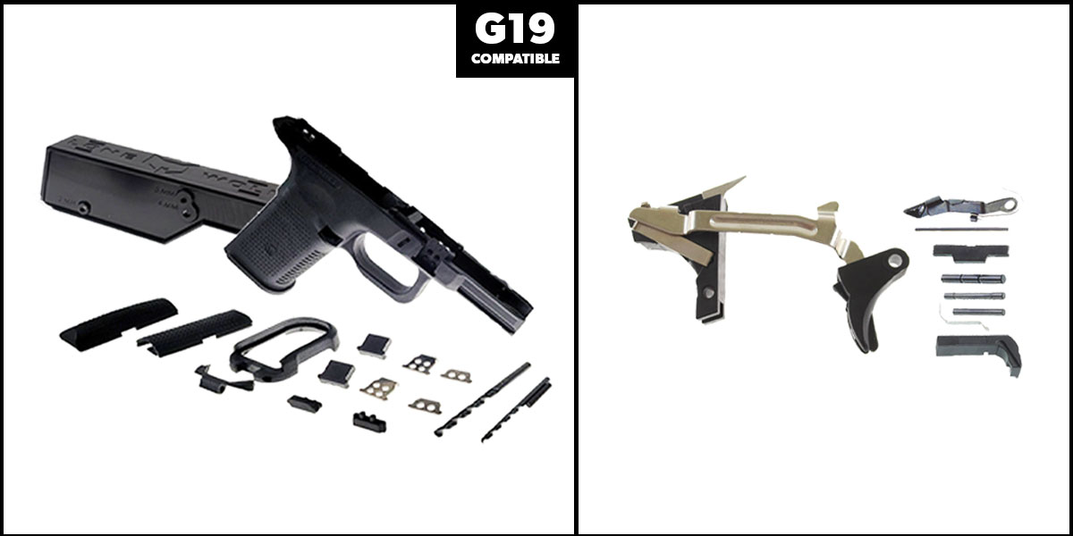 Delta Deals DIY Pistol Kits Featuring: Lone Wolf Frame G19/G23 + Alpha One Glock Lower Parts Kit