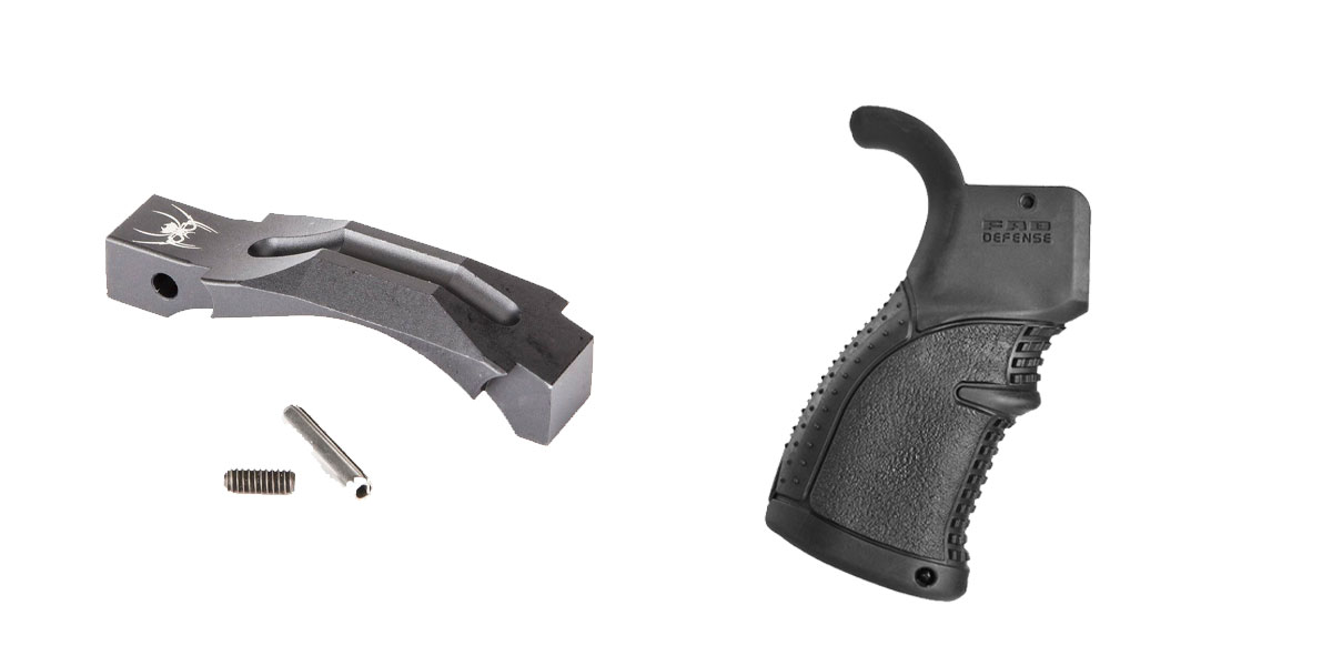 Delta Deals Enhanced Trigger Guard + Pistol Grip: Featuring Spikes and FAB Defense