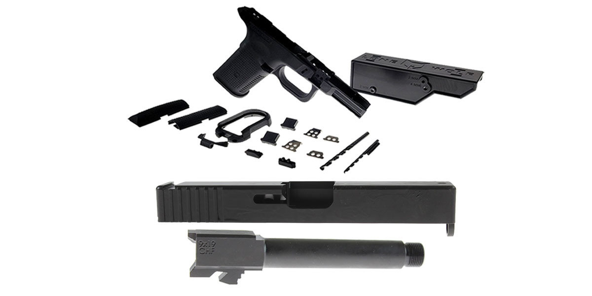 Delta Deals DIY Pistol Kits Featuring: Lone Wolf Frame G19/G23 + ELD Performance Slide G19 + Cold Hammer Forged Threaded 9mm Barrel