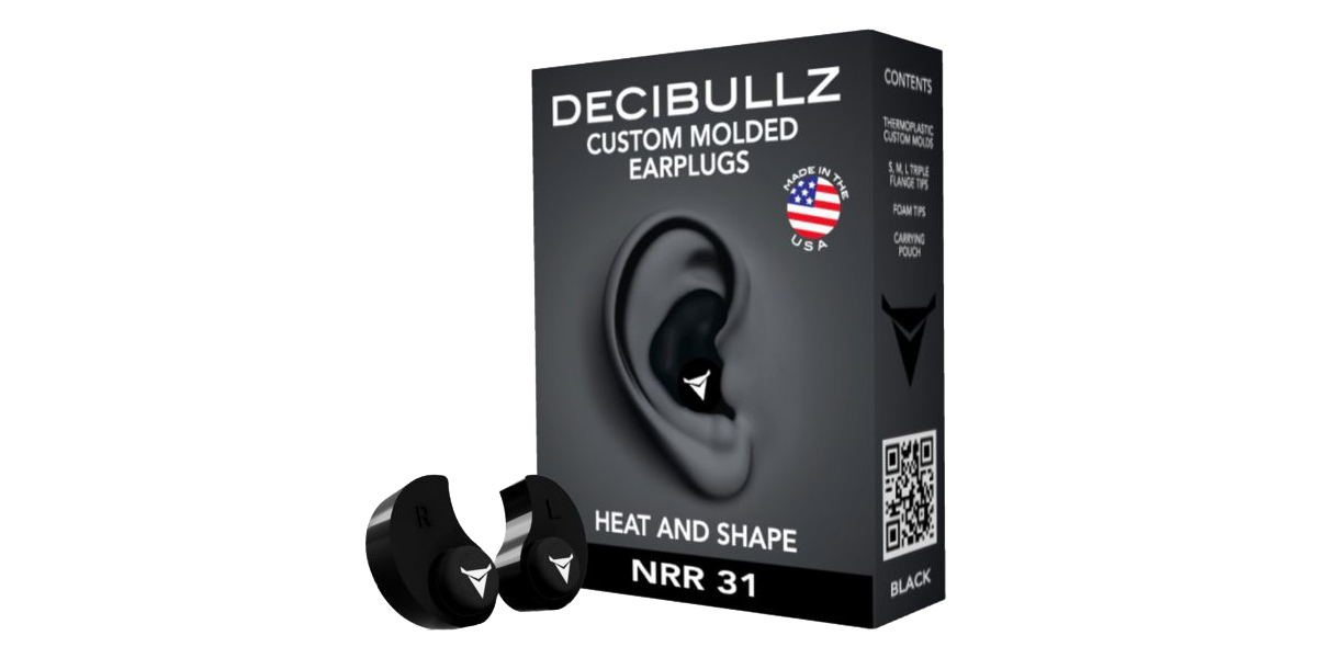 Decibullz Custom Molded Earplugs - Black
