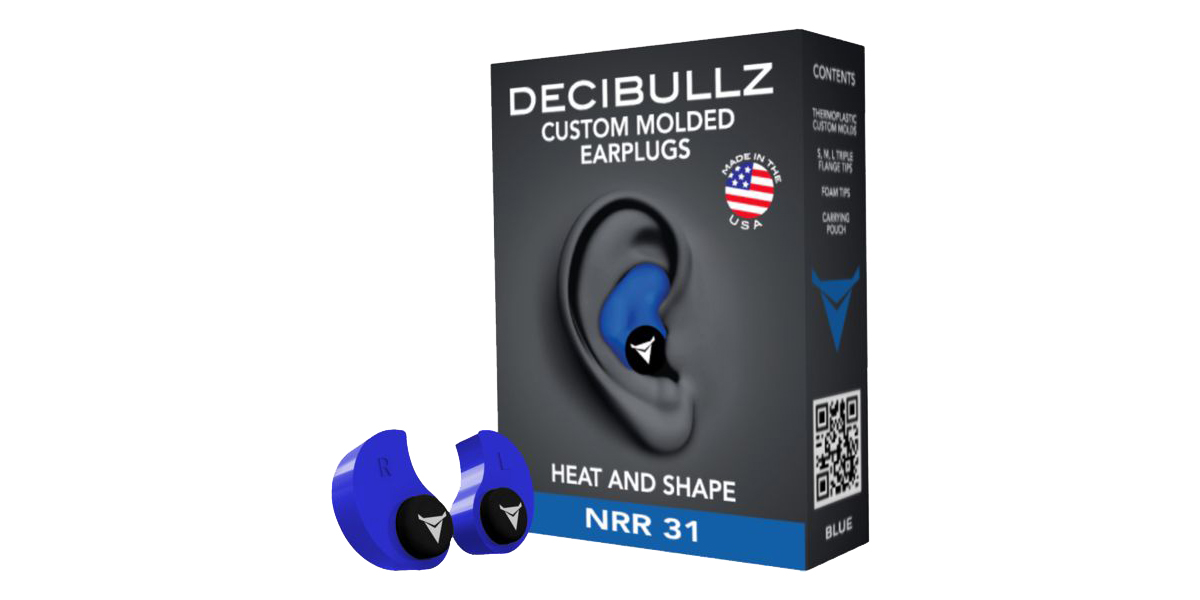 Decibullz Custom Molded Earplugs - Blue