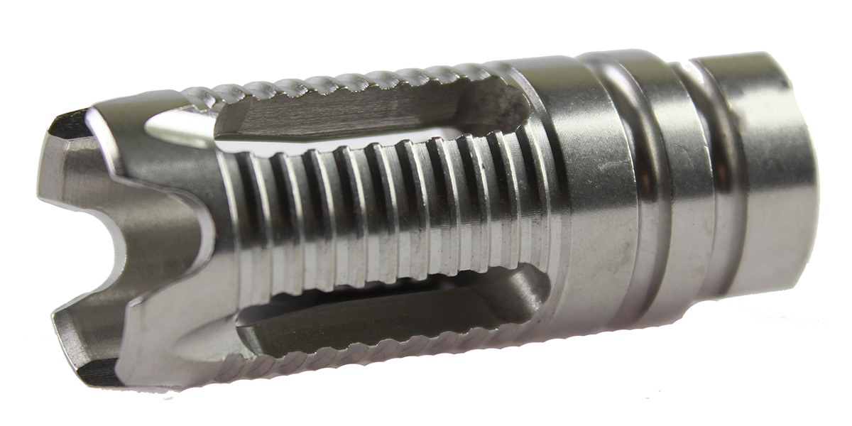 Recoil Technologies 1/2X28 Phantom Style 4 Port Stainless Steel Muzzle Brake