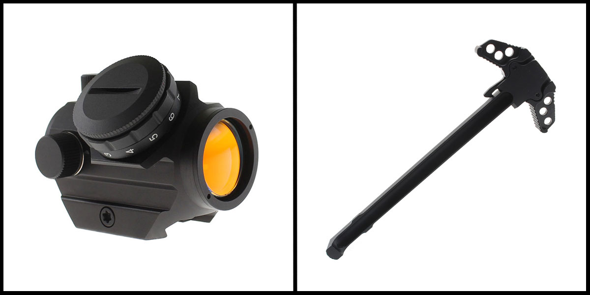 Delta Deals 23MM Objective Lens Micro Red Dot Sight w/ Low Profile 1913 Rail Mount +