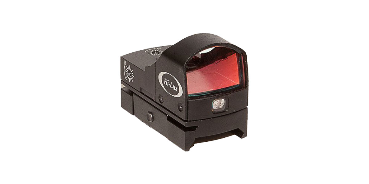Hi-Lux TD-4 Tactical Reflex Sight, 21x16mm Micro Red Dot Sight w/ Integral Picatinny/Weaver Mount, 4MOA Dot