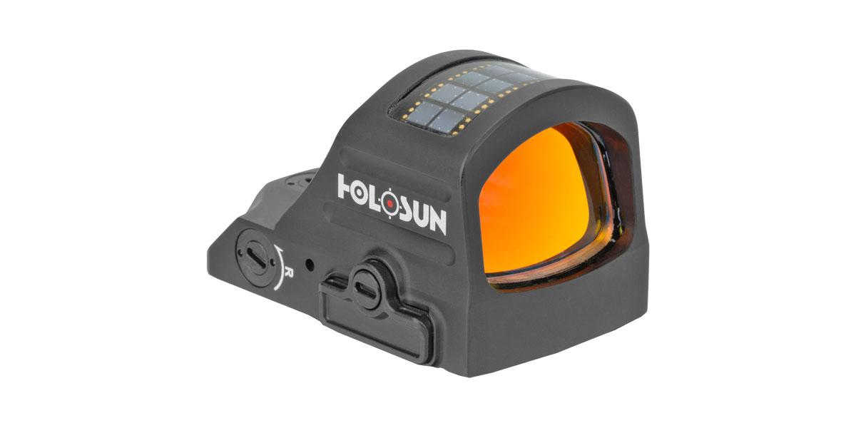 Holosun Technologies, 507C-X2, Red Dot, 32 MOA Ring & 2 MOA Dot, Black Color, Side Battery, Solar Failsafe