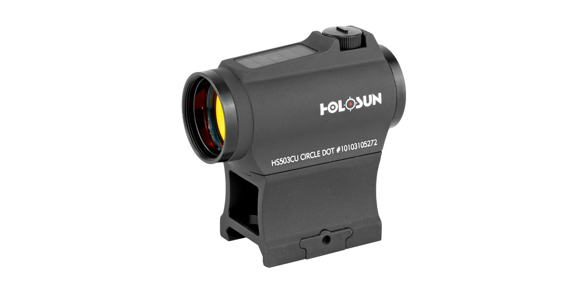 Holosun Micro Red Dot Sight, 2MOA Dot Only or 2MOA Dot with 65MOA Circle, Fits 1913 Picatinny Rail, Black Finish