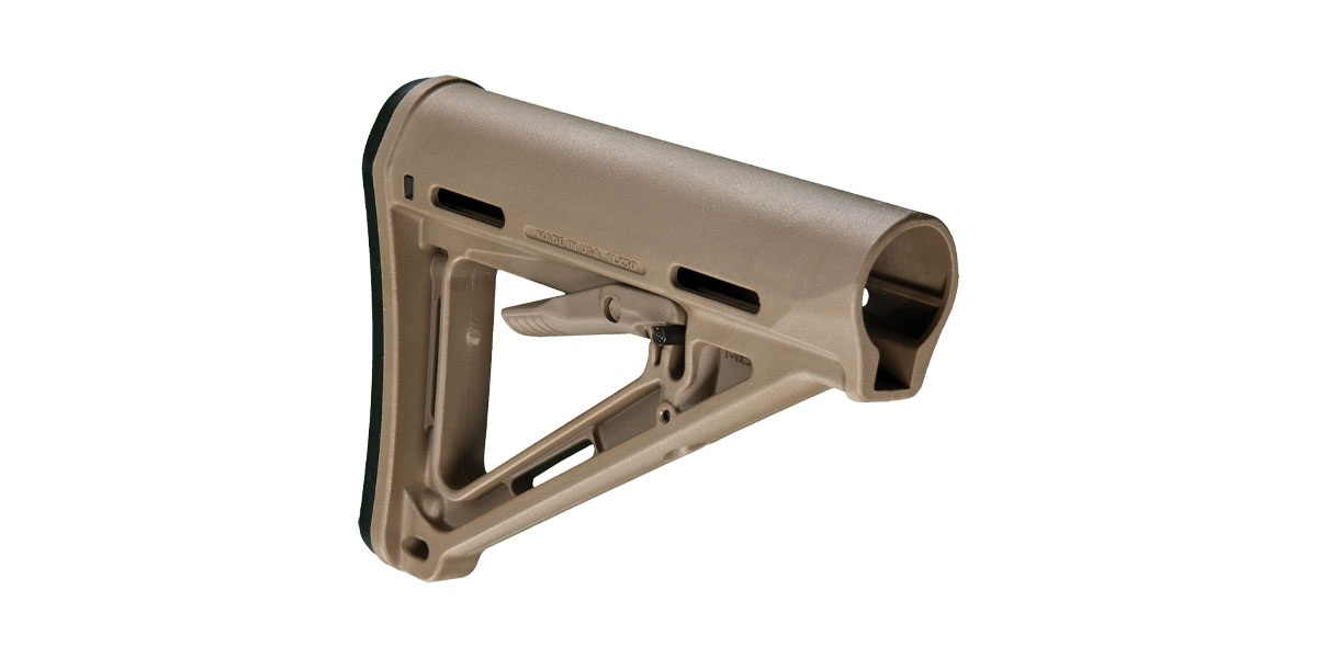 Magpul MOE FDE Carbine Stock, AR-15, For Mil-Spec Tube
