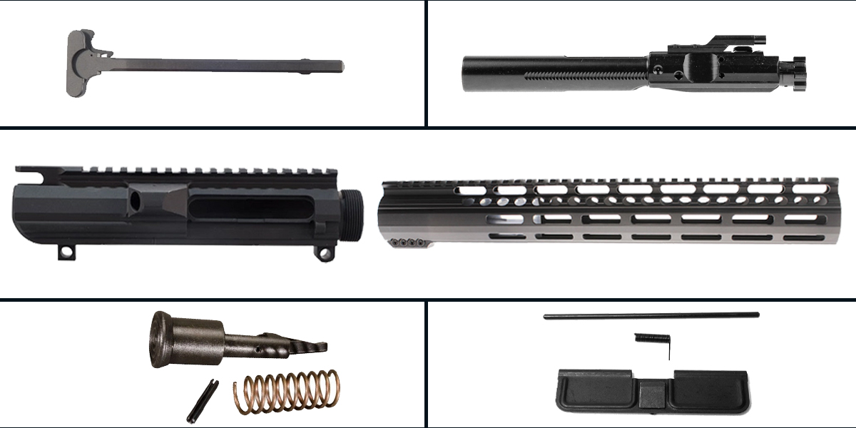 Delta Deals LR-308 Upper Build Starter Kit Featuring: Low Profile DPMS Upper Receiver, Low Profile 15