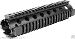 Omega Mfg. Full Length 12-Inch Drop-In Quad Rail System Replaces Plastic Handguards