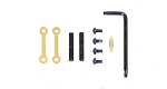 Guntec AR-15 Complete Anti-Rotation Trigger/Hammer Pin Set - Gold