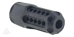 Helius Tactical Davidson Defense Store Laser Engraved 1/2X28 Hexagonal Muzzle Brake with Circle Ports
