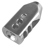 Omega Manufacturing AR-15 5.56 223 TPI Stainless Competition Tanker Muzzle Brake Compensater w/crush washer