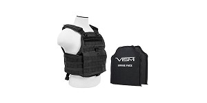 VISM Plate Carrier w/ 10X12 PE Hard Plates [Med-2XL] - Black